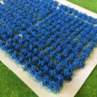 blue flower tufts