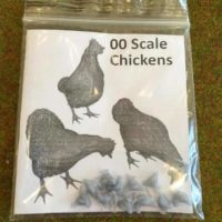 OO scale chickens