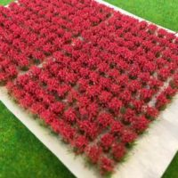 red flower tufts
